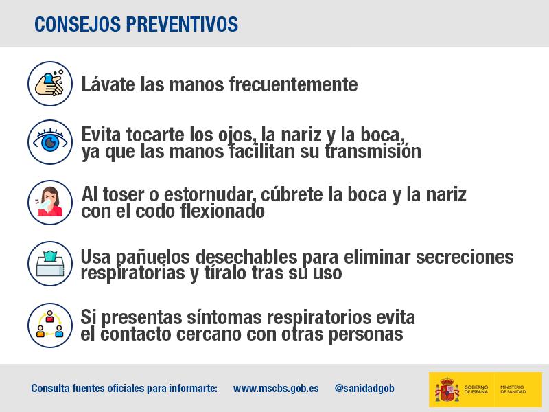 Consejos preventivos coronavirus