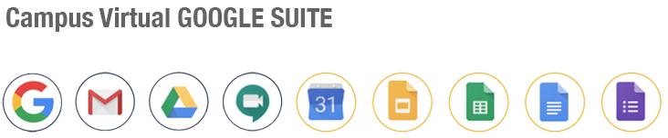Campus Virtual Google Suite APPS