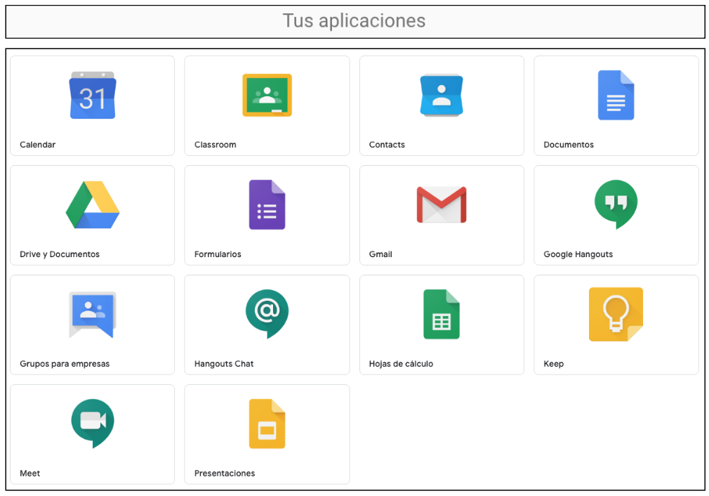 Campus Virtual Google Suite MÁS APPS